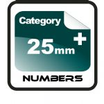 25mm+ Race Numbers